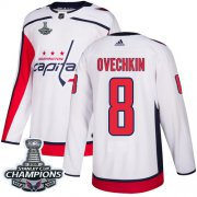 Wholesale Cheap Adidas Capitals #8 Alex Ovechkin White Road Authentic Stanley Cup Final Champions Stitched NHL Jersey