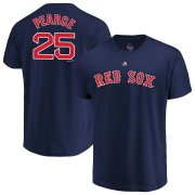 Wholesale Cheap Boston Red Sox #25 Steve Pearce Majestic Official Name & Number T-Shirt Navy