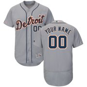 Wholesale Cheap Detroit Tigers Majestic Road Flex Base Authentic Collection Custom Jersey Gray