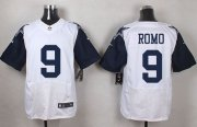 Wholesale Cheap Nike Cowboys #9 Tony Romo White Men's Stitched NFL Elite Rush Jersey