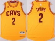 Wholesale Cheap Cleveland Cavaliers #2 Kyrie Irving Revolution 30 Swingman 2014 New Yellow Jersey