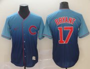 Wholesale Cheap Nike Cubs #17 Kris Bryant Royal Fade Authentic Stitched MLB Jersey