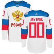 Wholesale Cheap Men's Adidas Team Russia Personalized Authentic White Home 2016 World Cup NHL Jersey