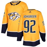 Wholesale Cheap Adidas Predators #92 Ryan Johansen Yellow Home Authentic Stitched Youth NHL Jersey