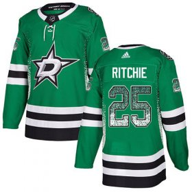 Wholesale Cheap Adidas Stars #25 Brett Ritchie Green Home Authentic Drift Fashion Stitched NHL Jersey