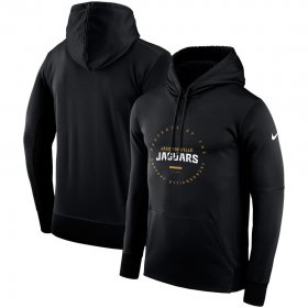 Wholesale Cheap Jacksonville Jaguars Nike Sideline Property Of Wordmark Logo Performance Pullover Hoodie Black
