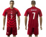 Wholesale Cheap Czech #7 Posicky Red Home Soccer Country Jersey