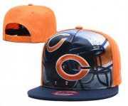 Wholesale Cheap Bears Team Logo Orange Navy Adjustable Leather Hat TX