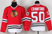 Wholesale Cheap Blackhawks #50 Corey Crawford Red Stitched Youth NHL Jersey