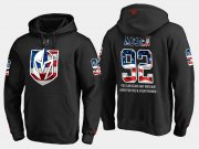 Wholesale Cheap Golden Knights #92 Tomas Nosek NHL Banner Wave Usa Flag Black Hoodie