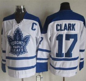 Wholesale Maple Leafs #17 Wendel Clark White CCM Throwback Winter Classic Stitched NHL Jersey