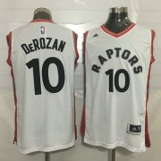 Wholesale Cheap Men's Toronto Raptors #10 DeMar DeRozan White New NBA Rev 30 Swingman Jersey