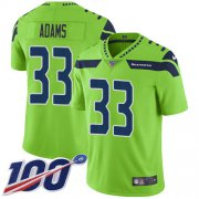 Wholesale Cheap Nike Seahawks #33 Jamal Adams Green Youth Stitched NFL Limited Rush 100th Season Jersey