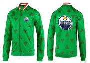 Wholesale NHL Edmonton Oilers Zip Jackets Green