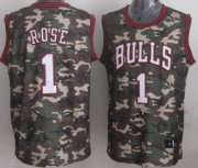 Wholesale Cheap Chicago Bulls #1 Derrick Rose Camo Fashion Jersey