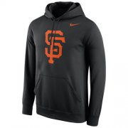 Wholesale Cheap San Francisco Giants Nike Logo Performance Pullover Black MLB Hoodie