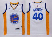 Wholesale Cheap Men's Golden State Warriors #40 Harrison Barnes Revolution 30 Swingman 2014 New White Jersey