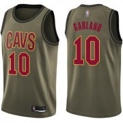 Wholesale Cheap Cavaliers #10 Darius Garland Green Basketball Swingman Salute to Service Jersey