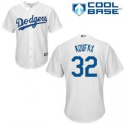 Wholesale Cheap Dodgers #32 Sandy Koufax White Cool Base Stitched Youth MLB Jersey