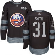 Wholesale Cheap Adidas Islanders #31 Billy Smith Black 1917-2017 100th Anniversary Stitched NHL Jersey