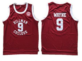 Wholesale Cheap Hillman College Theater Dwayne Wayne Red Mesh Stitched Movie Jersey