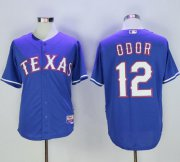 Wholesale Cheap Rangers #12 Rougned Odor Blue Cool Base Stitched MLB Jersey