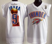 Wholesale Cheap Oklahoma City Thunder #9 Serge Ibaka 2012 NBA Champions White Jersey