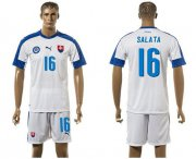 Wholesale Cheap Slovakia #16 Salata Home Soccer Country Jersey