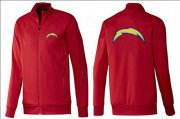 Wholesale NFL Los Angeles Chargers Team Logo Jacket Red