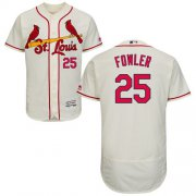 Wholesale Cheap Cardinals #25 Dexter Fowler Cream Flexbase Authentic Collection Stitched MLB Jersey