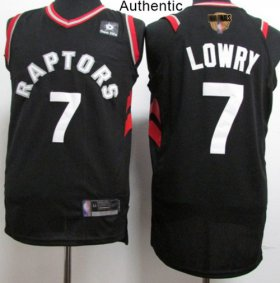Wholesale Cheap Raptors #7 Kyle Lowry Black 2019 Finals Bound Basketball Authentic Statement Edition Jersey