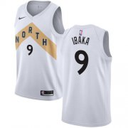 Wholesale Cheap Nike Raptors #9 Serge Ibaka White NBA Swingman City Edition Jersey