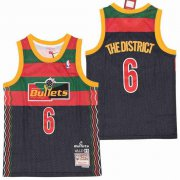 Wholesale Cheap Men's Washington Wizards #6 The District Navy NBA Remix Jersey - Wale
