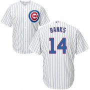 Wholesale Cheap Cubs #14 Ernie Banks White Home Stitched Youth MLB Jersey