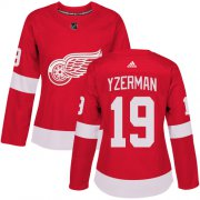 Wholesale Cheap Adidas Red Wings #19 Steve Yzerman Red Home Authentic Women's Stitched NHL Jersey