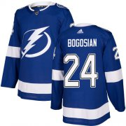 Cheap Adidas Lightning #24 Zach Bogosian Blue Home Authentic Stitched NHL Jersey