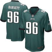 Wholesale Cheap Nike Eagles #96 Derek Barnett Midnight Green Team Color Youth Stitched NFL New Elite Jersey