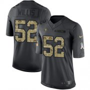 Wholesale Cheap Nike 49ers #52 Patrick Willis Black Youth Stitched NFL Limited 2016 Salute to Service Jersey