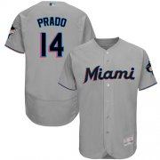 Wholesale Cheap marlins #14 Martin Prado Grey Flexbase Authentic Collection Stitched MLB Jersey