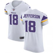 Wholesale Cheap Nike Vikings #18 Justin Jefferson White Men's Stitched NFL New Elite Jersey