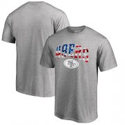 Wholesale Cheap Men's San Francisco 49ers Pro Line by Fanatics Branded Heathered Gray Banner Wave T-Shirt
