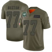 Wholesale Cheap Nike Jets #77 Mekhi Becton Camo Youth Stitched NFL Limited 2019 Salute To Service Jersey