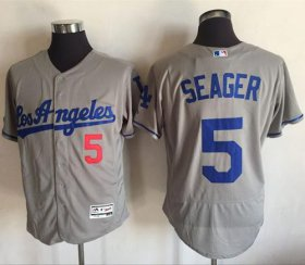 Wholesale Cheap Dodgers #5 Corey Seager Grey Flexbase Authentic Collection Road Stitched MLB Jersey