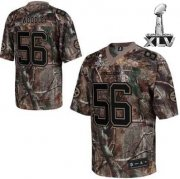 Wholesale Cheap Steelers #56 LaMarr Woodley Camouflage Realtree Super Bowl XLV Stitched NFL Jersey