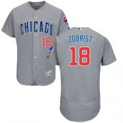 Wholesale Cubs #18 Ben Zobrist Grey Flexbase Authentic Collection Road Stitched Baseball Jersey