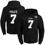 Wholesale Cheap Nike Jaguars #7 Nick Foles Black Name & Number Pullover NFL Hoodie