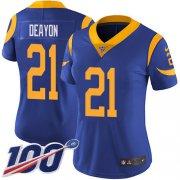 Wholesale Cheap Nike Rams #21 Donte Deayon Royal Blue Alternate Women's Stitched NFL 100th Season Vapor Untouchable Limited Jersey