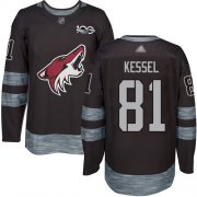Wholesale Cheap Adidas Coyotes #81 Phil Kessel Black 1917-2017 100th Anniversary Stitched NHL Jersey