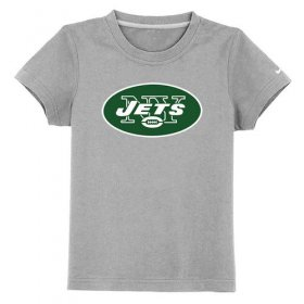 Wholesale Cheap New York Jets Authentic Logo Youth T-Shirt Grey