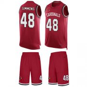 Wholesale Cheap Nike Cardinals #48 Isaiah Simmons Red Team Color Men's Stitched NFL Limited Tank Top Suit Jersey